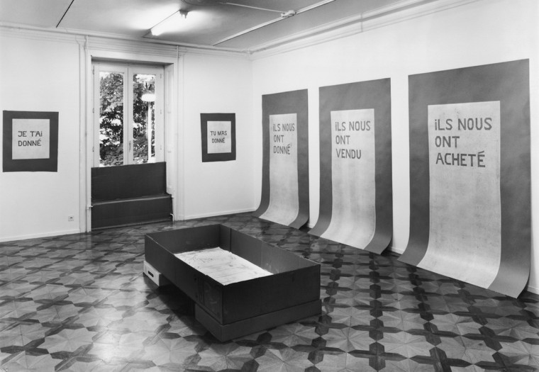 Nicolás Fernández, view of the exhibition at Centre genevois de gravure contemporaine, Genève, 1996.