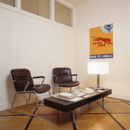 View of the exhibition <em>Affiches/Livres</em>, Centre d'édition contemporaine, Genève, 2001
