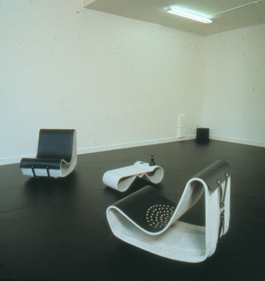 Monica Bonvicini, view of the exhibition <em>Bonded Eternmale</em>, Centre d'édition contemporaine, Genève, 2002