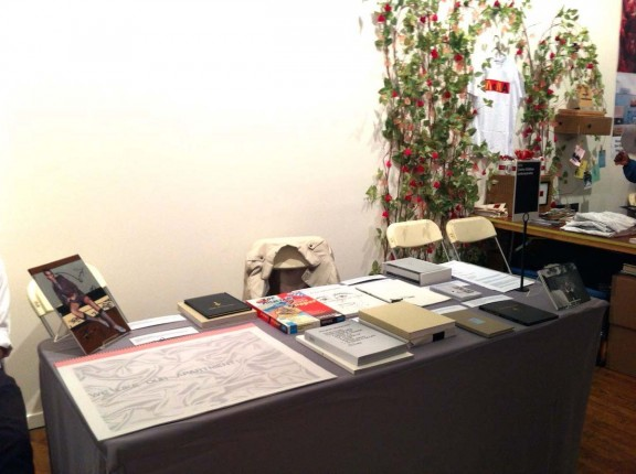 View of the CEC's stand, NY Art Book Fair, 2012