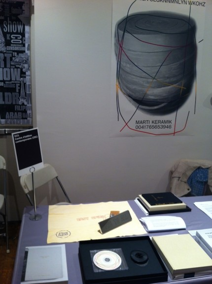 View of the CEC's stand, NY Art Book Fair, 2013