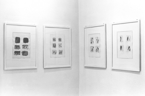 Henri Michaux, view of the exhibition, 1989