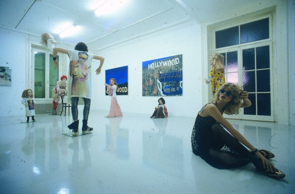 Elke Krystufek, view of the exhibition, 1999