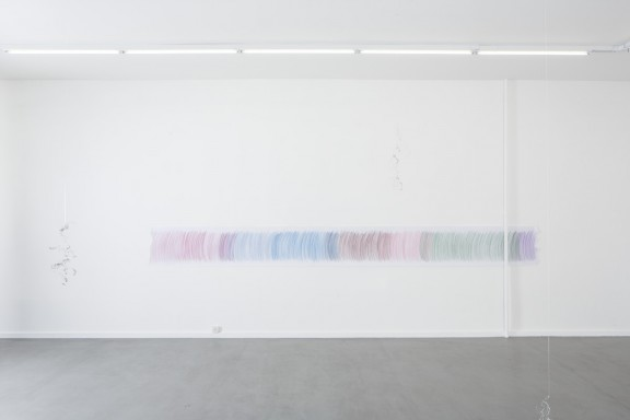 Raphaël Julliard, view of the exhibition CHROMOZONE, CEC, 2014. Image © Sandra Pointet