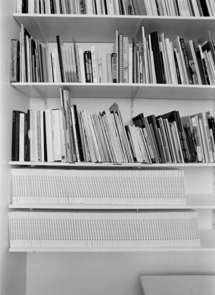 Claude Closky, two sets of 80 books, 1994