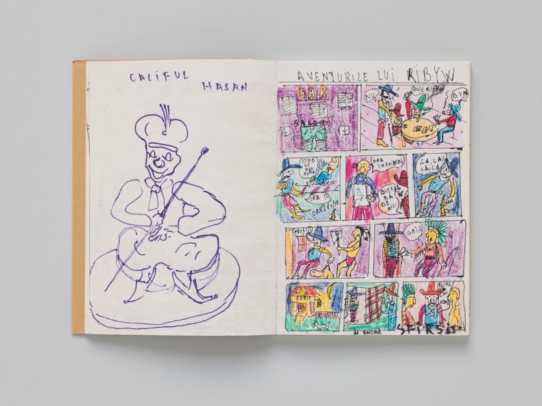Victor Man, Childhood Drawings for Rózsa, artist's book, ed. CEC, 2018. © Sandra Pointet
