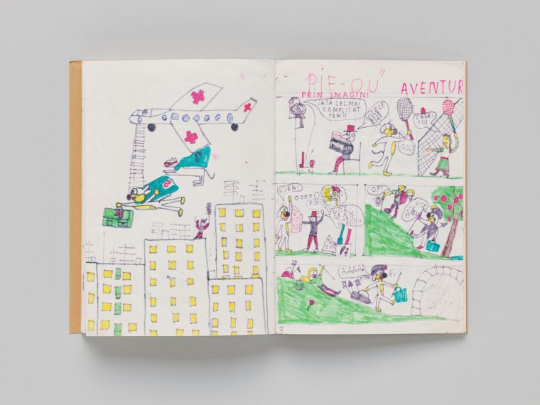 Victor Man, Childhood Drawings for Rózsa (détail), livre d'artiste, éd. CEC, 2018, © Sandra Pointet